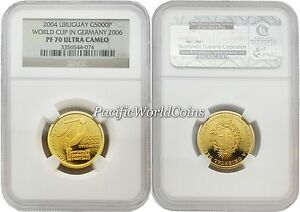 Click now to see the BUY IT NOW Price! URUGUAY 2004 WORLD CUP IN GERMANY 2006 5000 PESOS GOLD NGC PF70 ULTRA CAMEO
