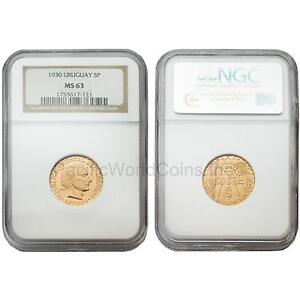 Click now to see the BUY IT NOW Price! URUGUAY 1930 5 PESOS NGC MS63