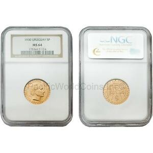 Click now to see the BUY IT NOW Price! URUGUAY 1930 5 PESOS NGC MS64