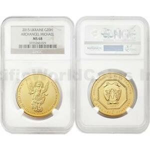 Click now to see the BUY IT NOW Price! UKRAINE 2015 ARCHANGEL MICHAEL 1 OZ 20 HRYVEN GOLD NGC MS68