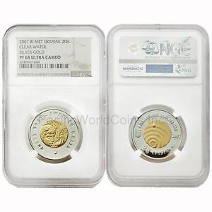 Click now to see the BUY IT NOW Price! UKRAINE 2007 CLEAR WATER BIMETALLIC 20 HRYVEN GOLD & SILVER NGC PF68 ULTRA CAMEO