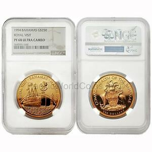 Click now to see the BUY IT NOW Price! BAHAMAS 1994 ROYAL VISIT $250 GOLD NGC PF68 ULTRA CAMEO
