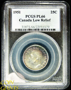 Click now to see the BUY IT NOW Price! 1951 CANADA LOW RELIEF VARIETY PCGS PL66 SUPER TONED GEM TONING CANADIAN SP COIN