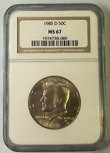 Click now to see the BUY IT NOW Price! 1985 D KENNEDY HALF DOLLAR 50C NGC MS 67