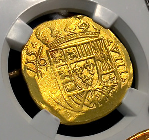 Click now to see the BUY IT NOW Price! MEXICO 1715 FLEET SHIPWRECK 8 ESCUDOS NGC 62 GOLD DOUBLOON COB COIN 3RD FINEST K
