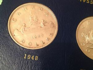 Click now to see the BUY IT NOW Price! NEAR COMPLETE CANADA DOLLAR SET INCLUDING 1948 1938 1945 1947 GREAT STARTER SET