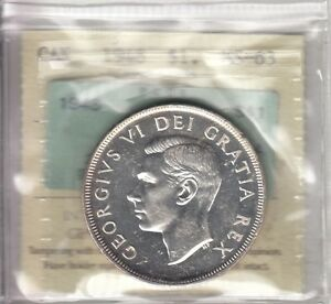 Click now to see the BUY IT NOW Price! 1948 CANADIAN SILVER DOLLAR ICCS MS 63 CROSS GRADED WITH PCGS