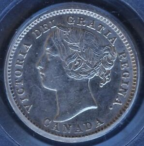 Click now to see the BUY IT NOW Price! 1884 CANADA TEN CENTS KEY DATE PCGS AU 55