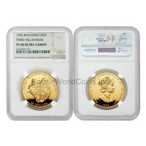 Click now to see the BUY IT NOW Price! BAHAMAS 1996 THIRD MILLENNIUM $25 GOLD NGC PF68 ULTRA CAMEO