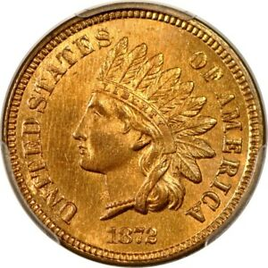 Click now to see the BUY IT NOW Price! 1872 1C SHALLOW N INDIAN CENT PCGS MS65RB  PHOTO SEAL