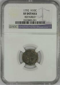 Click now to see the BUY IT NOW Price! 1792 H10C BUST HALF DIME  NGC XF GENUINE BUST HALF DIME  COIN