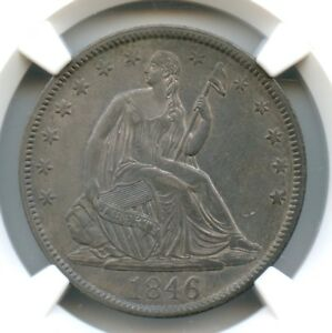 Click now to see the BUY IT NOW Price! 1846 TALL DATE LIBERTY SEATED HALF DOLLAR NGC AU 55