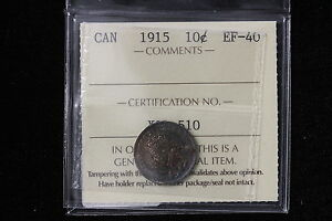 Click now to see the BUY IT NOW Price! 1915 CANADA. 10 CENTS. ICCS GRADED EF 40.  XOL510