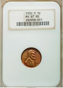 Click now to see the BUY IT NOW Price! 1930 S LINCOLN WHEAT CENT 1C NGC MS67 RD RED OH FINEST KNOWN PG   $22 500