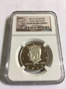 KENNEDY HALF DOLLAR 2013 S CLAD EARLY RELEASE NGC PF 69 ULTRA CAMEO