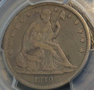 1840 REV. OF '39 SEATED HALF PCGS VF20 GREAT ORIGINALITY CHN