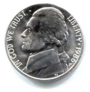 1986 P JEFFERSON NICKEL   AMERICAN FIVE CENT COIN   UNCIRCULATED   PHILADELPHIA