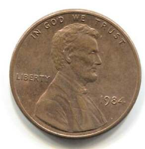 U.S. 1984 LINCOLN MEMORIAL PENNY    AMERICAN ONE CENT COIN PHILADELPHIA MINT