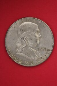 1961 D BEN FRANKLIN HALF DOLLAR EXACT COIN PICTURED FLAT RATE SHIPPING TOM003
