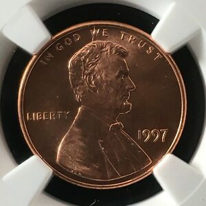 Click now to see the BUY IT NOW Price! 1997 1C RD LINCOLN MEMORIAL ONE CENT NGC MS69RD                  4474344 002C
