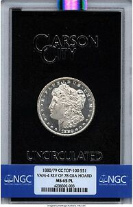 Click now to see the BUY IT NOW Price! 1880/79 CC GSA MORGAN DOLLAR REVERSE OF 1878 78 VAM 4 NGC MS65 NGC PL PROOFLIKE