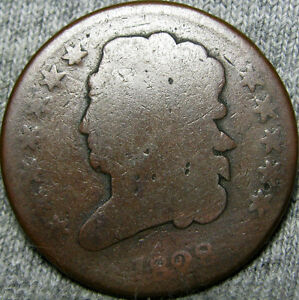 1828 CLASSIC HEAD HALF CENT PENNY       TYPE COIN      H264