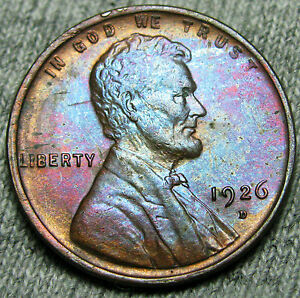1926 D LINCOLN CENT WHEAT PENNY     GEM BU     T202