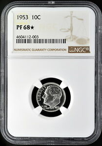 Click now to see the BUY IT NOW Price! 1953 10C SILVER PROOF ROOSEVELT DIME NGC PF 68 STAR EXCEPTIONAL EYE APPEAL
