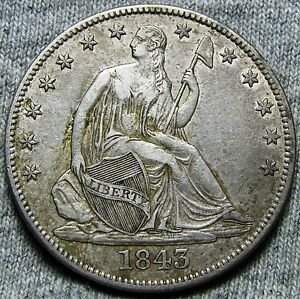 1843 O SEATED LIBERTY HALF DOLLAR     TYPE COIN     N038