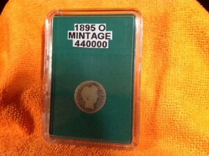 1895 O  BARBER DIME    KEY DATE   IN BCW SLAB TYPE HOLDER