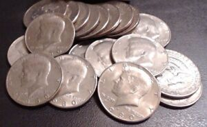 1980 1981 1982 1983 1984 D MINT KENNEDY HALF DOLLARS   LOT OF 5 COINS