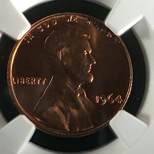 Click now to see the BUY IT NOW Price! 1964 1C RD LINCOLN MEMORIAL ONE CENT NGC MS67RD        4468151 008C