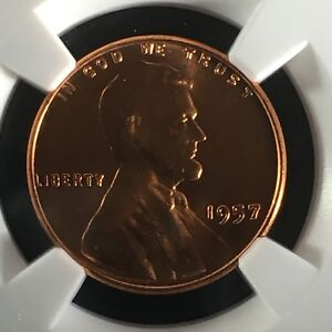 1957 1C RD LINCOLN WHEAT ONE CENT NGC MS67RD       2713618 012C