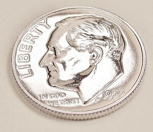 1953  CHOICE   PROOF   DIME  90   SILVER  >EXACT  COIN  PICTURED <    1119  46