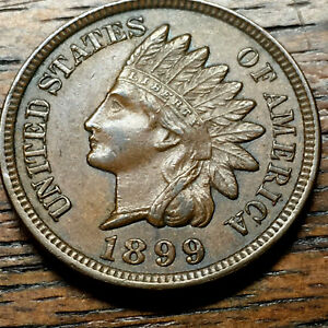 1899 INDIAN CENT FULL LIBERTY 4 DIAMONDS AU TO MS GRADE NICE COIN