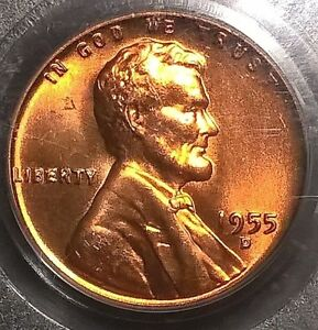1955 D   LINCOLN CENT  PCGS MS66RD