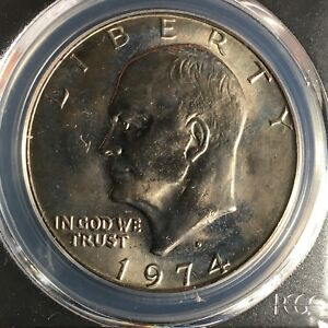 Click now to see the BUY IT NOW Price! 1974 D $1 EISENHOWER DOLLAR PCGS MS67    84065034C