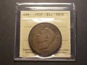 Click now to see the BUY IT NOW Price! LOWBALL   1937 CANADA SILVER DOLLAR POCKET PIECE LUCKY COIN ICCS VG 8