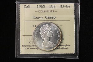 Click now to see the BUY IT NOW Price! 1965 CANADA. 50 CENTS. ICCS GRADED MS 64 HEAVY CAMEO .  XSE194