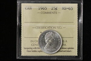 Click now to see the BUY IT NOW Price! 1965 CANADA. 25 CENTS. ICCS GRADED MS 65 .  XDS807