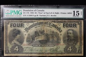 Click now to see the BUY IT NOW Price! 1902 CANADA.  $4  FOUR DOLLARS. PMG GRADED F15 NET