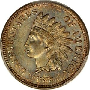Click now to see the BUY IT NOW Price! 1873 1C DOUBLED LIBERTY INDIAN CENT SNOW 1 PCGS MS64BN