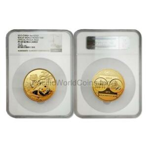 Click now to see the BUY IT NOW Price! CHINA 2013 BERLIN WORLD MONEY FAIR 5 OZ GOLD NGC PF69 ULTRA CAMEO SKU6459