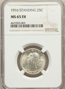 Click now to see the BUY IT NOW Price! 1916 US SILVER 25C STANDING LIBERTY QUARTER   NGC MS65 FH