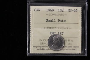 Click now to see the BUY IT NOW Price! 1969 CANADA. 10 CENTS. ICCS GRADED MS 65.  XMG187