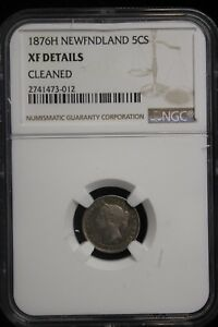Click now to see the BUY IT NOW Price! 1876 H CANADA / NEWFOUNDLAND. 5 CENTS. NGC GRADED XF.