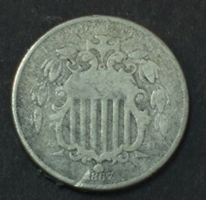 1867 SHIELD NICKEL 5 CENT PIECE SOME PROBLEMS
