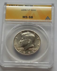 Click now to see the BUY IT NOW Price! 1987 P KENNEDY HALF DOLLAR   ANACS MS 68