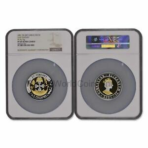 Click now to see the BUY IT NOW Price! GIBRALTAR 2001 21ST CENTURY TRIMET 5 CROWNS GOLD/SILVER/PLATINUM NGC PF69 W/COA