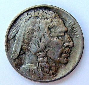 1913 TYPE I XF/AU BUFFALO NICKEL NICE FULL HORN COLLECTOR  COIN